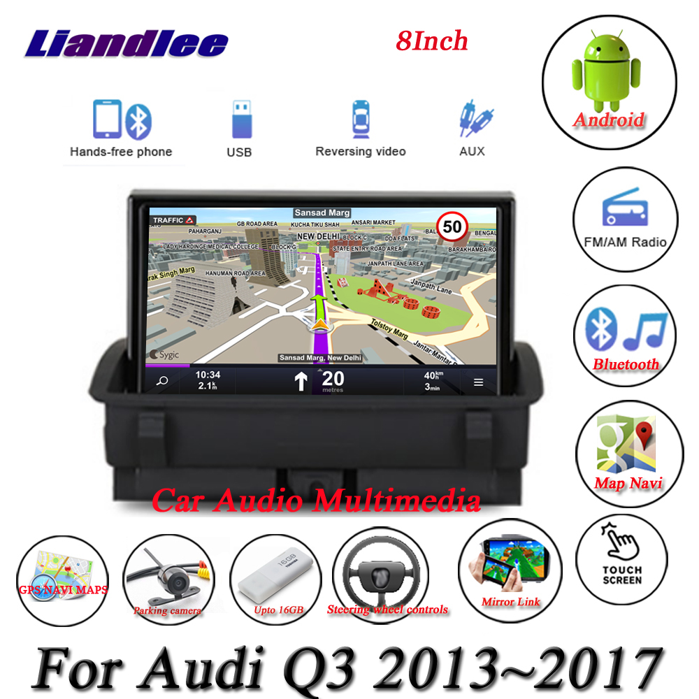 For Audi RS Q3 2013 2014 2015 2016 2017 Car Android Multimedia Player HD Touch Screen Radio AM FM RDS GPS Navigation SystemCar Multimedia Player   -