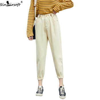 2019 New Autumn Loose Thin Befree High Waist Jeans Women Harajuku Fashion Trend Comfortable Casual Wild Harlan Denim Trousers цена 2017