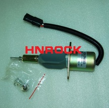 HNROCK NEW  SOLENOID  3930234  SA-4335-24  3930233 SA-4335-12 fuel shutdown solenoid valve diesel shut off solenoid 3930234 sa 4335 24 for cummins 6ct 8 3 komatsu 24v
