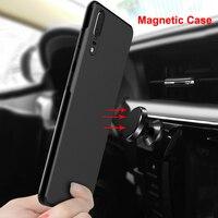 Funda magnética para Huawei P30 Pro Lite, protector de silicona mate suave para coche, P20, P20Pro, P20Lite, Nova 4e, 3e