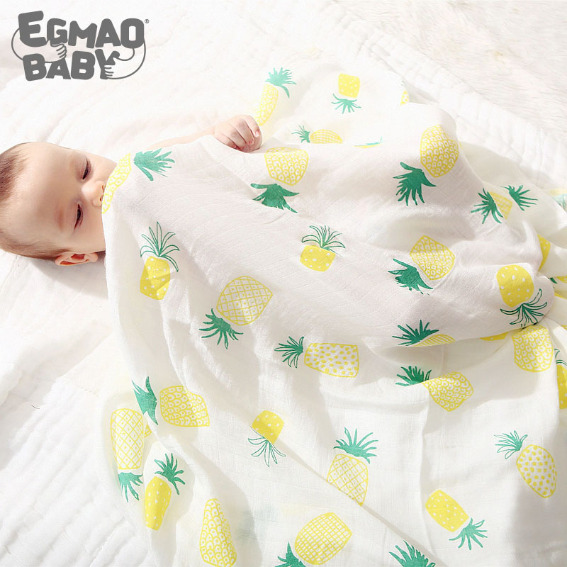Newborn Baby Swaddle Wrap Super Soft Crib Sleeping Blankets Unisex Muslin Baby Blanket For Babies 70% Bamboo Baby Bath Cloth
