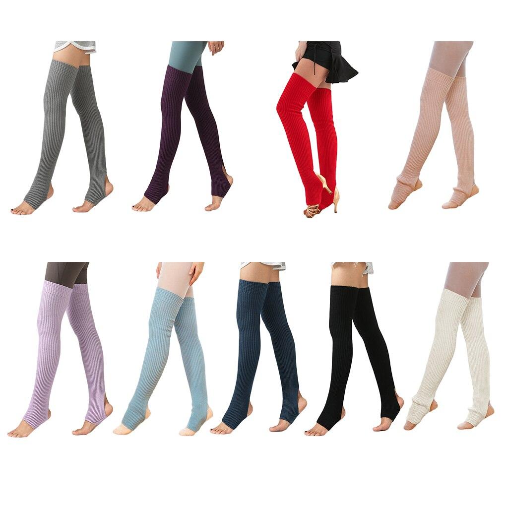 1 Pair Women Girls Leg Warmers Socks Long Footless Socks Winter Autumn Dance Yoga Ballet Stockings