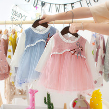 Baby Dress Girls Autumn Newborn Baby Girl Clothes 0-3 Years Old Cute Infant Dresses 1 year birthday Baby Girls Dresses HA044 bbwowlin pink baby girl dress for 0 6 years 1 year birthday christmas gift flower girl dresses 80100