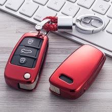 רכב סטיילינג רך TPU אוטומטי מפתח כיסוי מקרה להגן על לאאודי A1 A3 A4 A5 Q7 A6 C5 C6 A7 a8 R8 רכב Shell במחזיק המפתחות אביזרים