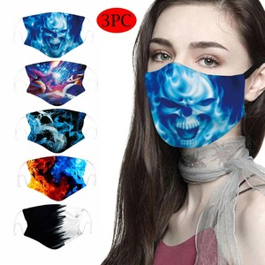 Mascarillas Face Mask Reusable Adult Men Women Printed Outdoor Double-layer Mask Breathable Adjustable Mask Masque Mascarar 3pc