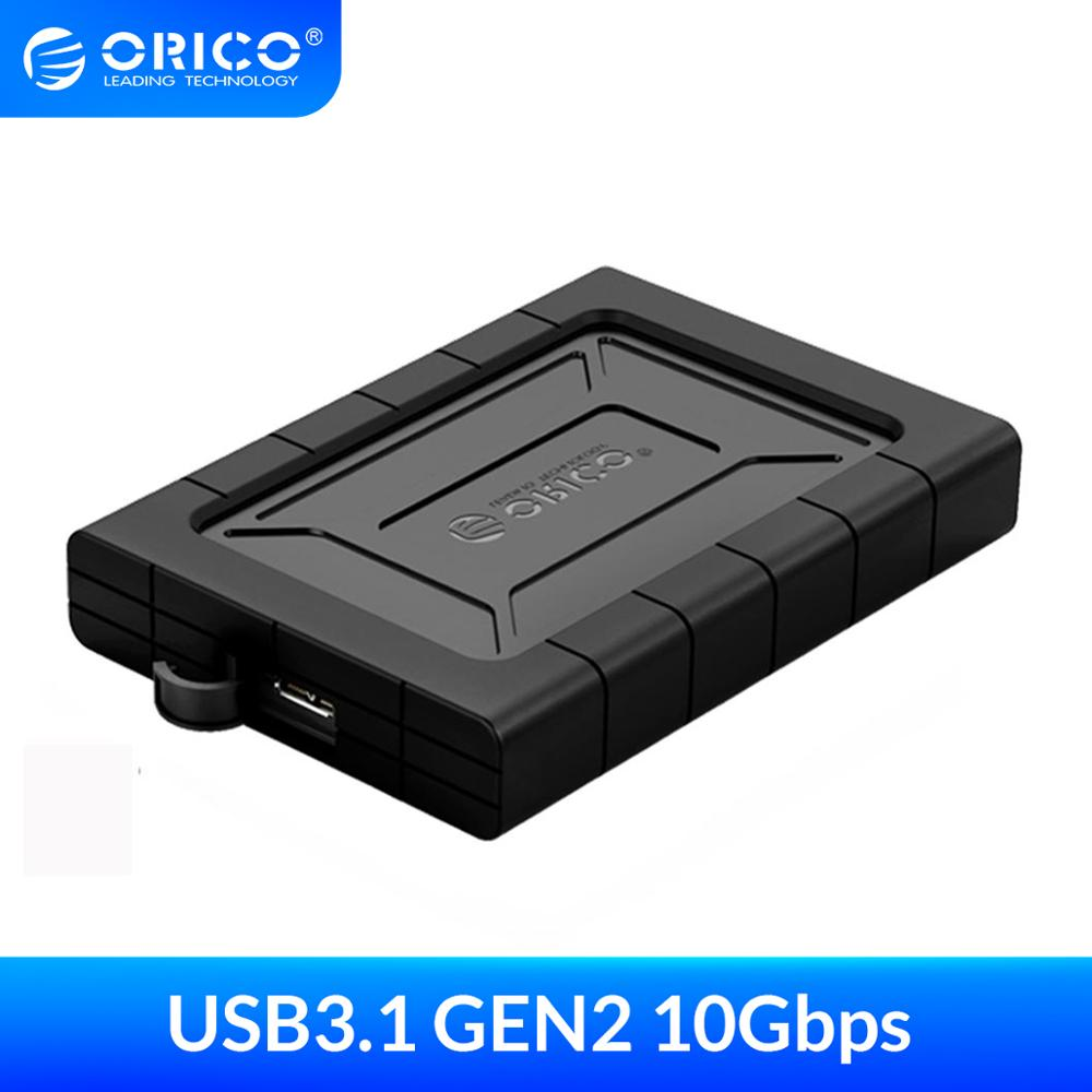 ORICO HDD Case 2 5 inch SATA to USB 3 1 Gen2 Shockproof Dampproof Dustproof Type C Hard Disk Drive Box External HDD Enclosure