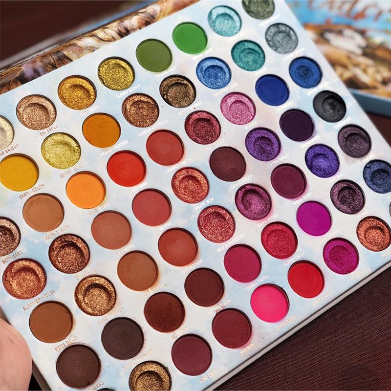 Icycheer paleta de sombra de olho, paleta de maquilagem com 63 cores