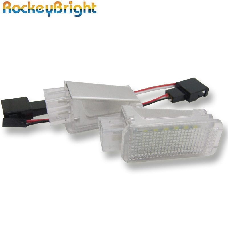 18SMD LED Courtesy <font><b>lights</b></font> Error Free for Audi <font><b>A2</b></font> A3 S3 A4 S4/RS4 for VW Phaeton Sharan Glove <font><b>Box</b></font> Under Door Foot <font><b>Light</b></font> image