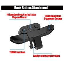 Extended Gamepad Back Button Attachment Joystick Rear Button With Turbo Key Adapter For PS4 Controller Game Accessories