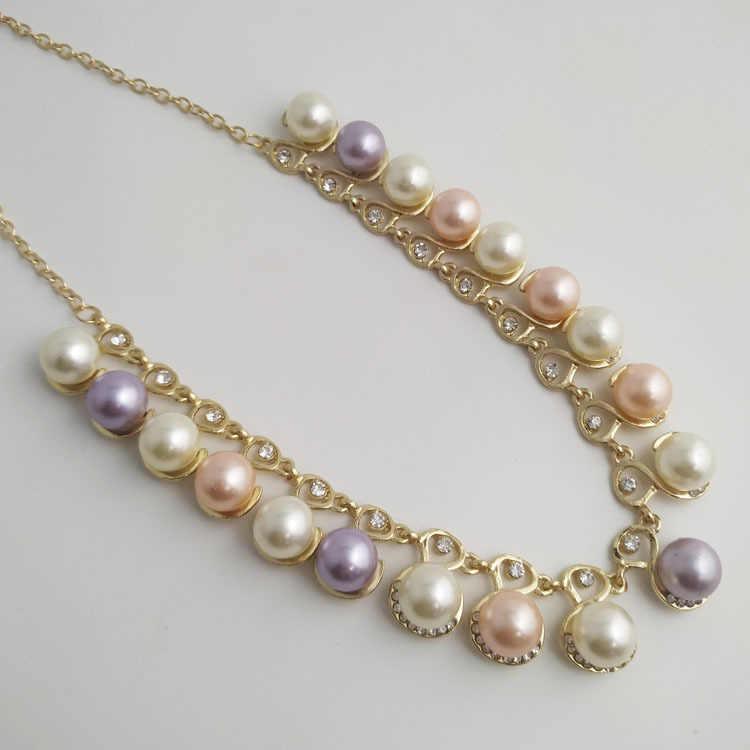 Moana Collares Kolye étrange F accessoires vitesse vente Tong Style chaud bijoux de mariée 2 pièces perle collier boucles d'oreilles