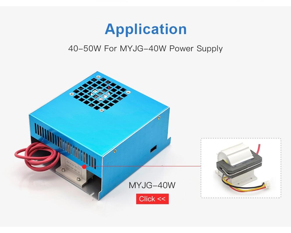 w de wavetopsign para a fonte de alimentação do laser MYJG-40w