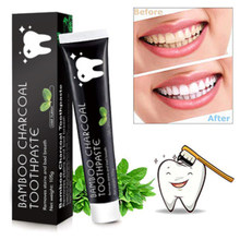Charcoal Toothpaste Teeth Home Use Fluorid Free Intensive Stain Removal Viaty Whitening Daily Mint Flavor(China)