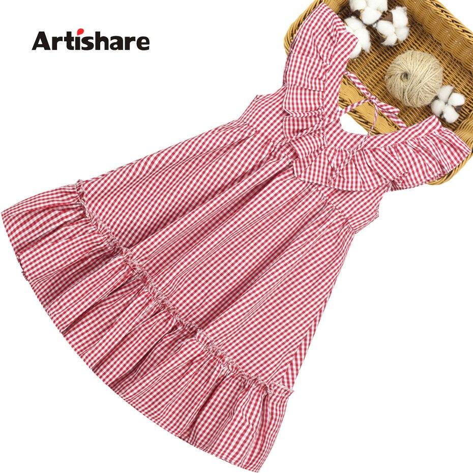 Vestido de verão para meninas, vestidos infantis sem mangas para meninas, estampa de xadrez, vestido infantil, roupas infantis para adolescentes, 6 8 10 12 14