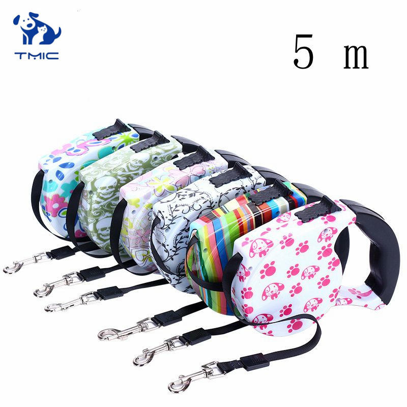 3/5M Retractable Dog Leash Automatic Outdoor Leashes Fashion Pet Walking Robust Collar Small Medium Harness