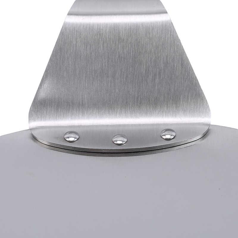 Anti-scalding พิซซ่าพลั่วไม้ Handle คุณภาพสูงสแตนเลสสตีลเค้กเบเกอรี่เครื่องมือห้องครัวอุปกรณ์เสริม