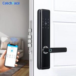 Image 3 - TTlock APP Biometric Fingerprint Door Lock Keyless Smart Lock WiFi Bluetooth Fingerprint Lock Electronic Home Lock Dual Battery