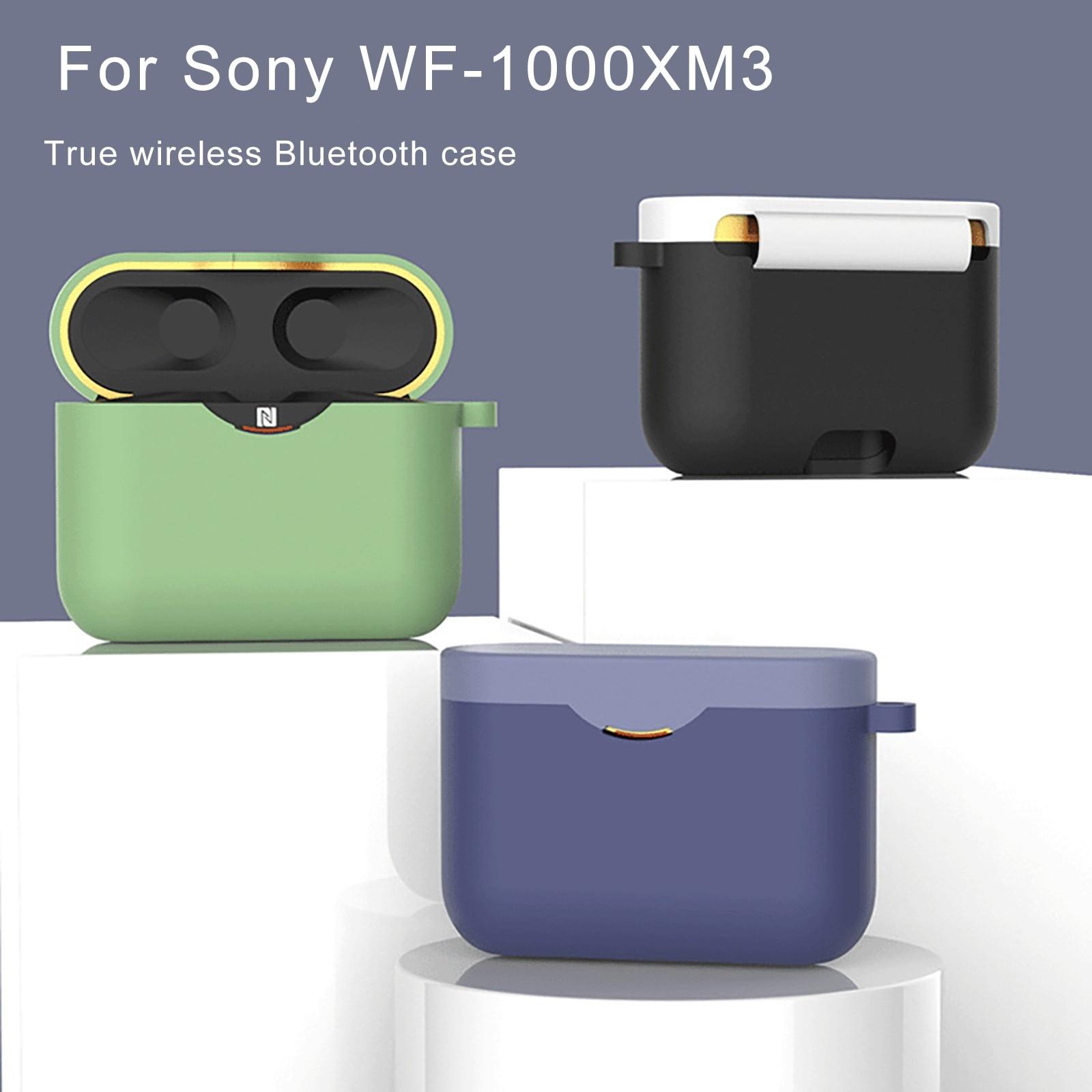 Funda de silicona para Sony WF-1000XM3 cubierta de carga bolsa inalámbrico estuche de auriculares