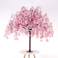 Wedding flowers cherry tree artificial tree cherry blossom pink tree wedding background decoration (customized other colors)