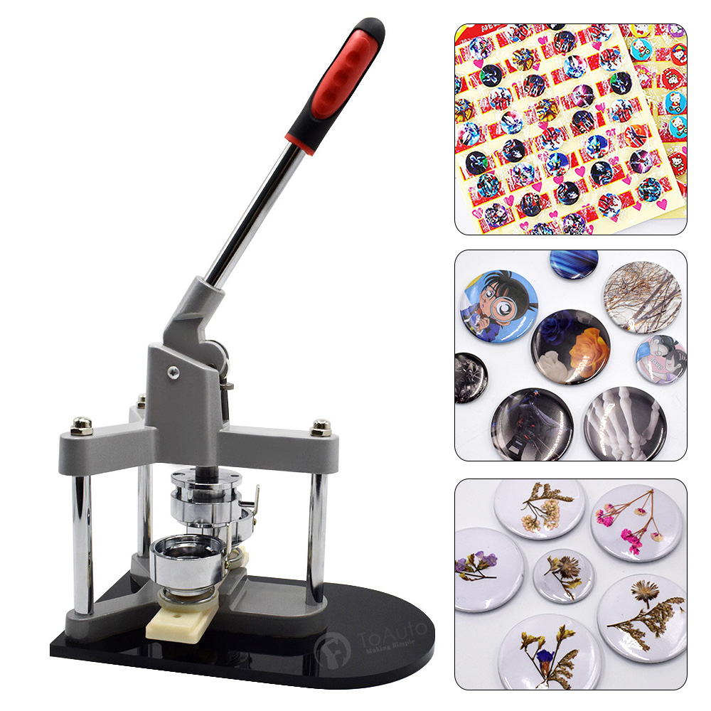 75mm DIY Triangular Structure Aluminum Body Button Badge Maker Punch Press Machine 3 inch for Creative Art Pin Small Business
