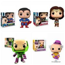 FUNKO-figuras de acción de la Liga de la justicia, juguetes coleccionables de personajes de la justicia, Wonder Woman, Superman, Batman, plex, Mister Mxyzptlk, Aquaman, Flash