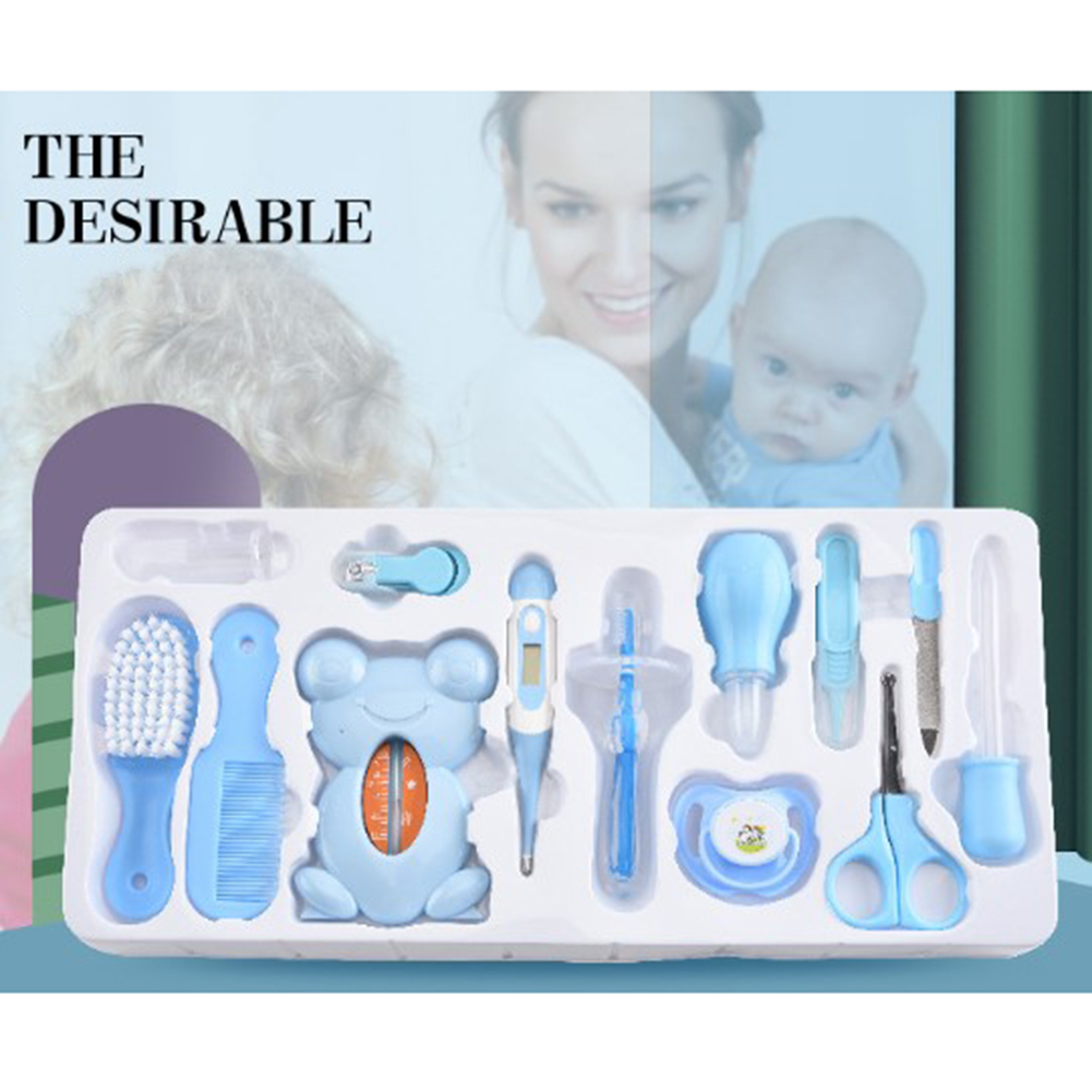 13Pcs Baby Health Care Kit Newborn Kid Care Baby hygiene Kit Grooming Set Thermometer Clipper Scissor Kid Toiletries for Baby