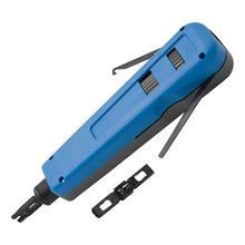 Herramienta perforadora con 66, 110 y cuchillas Krone multifunción, Universal, cable de red