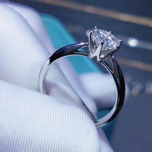 Image 3 - Geoki חדש פופולרי 1 ct עבר יהלומים מבחן Moissanite טבעת כסף 925 מושלם לחתוך מעולה D צבע פנינה אירוסין טבעת