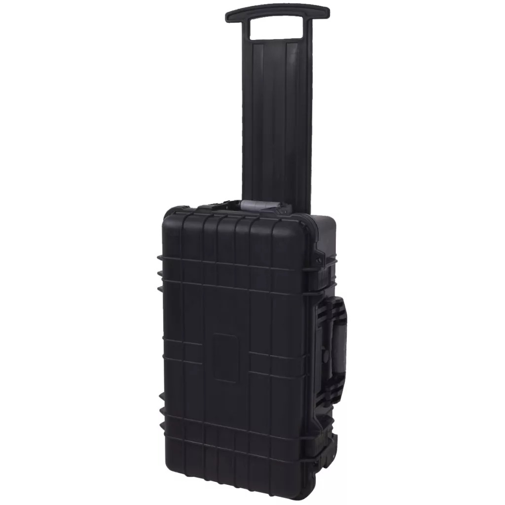 VidaXL Equipment Case With Pick &Amp Pluck Useful Tool Case With Two Wheels And An Adjustable Telescopic Handle