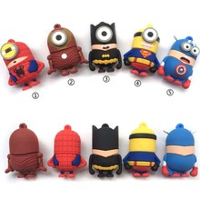 Superman dos desenhos animados Usb flash drive usb 2.0 pendrive Real capacidade 128GB GB GB 16 32 64GB spiderman Pen drive super hero usb stick(China)