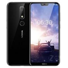 Разблокированный оригинальный Nokia 6,1 Plus 4G мобильный телефон 5,8 дюйма 4 Гб 64 Гб Восьмиядерный сканер отпечатков пальцев Android LTE две sim-карты, бес...