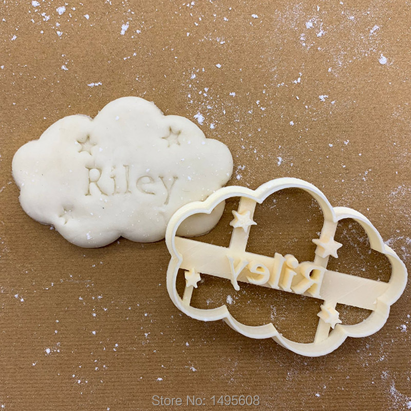 Custom Name cookie cutter cloud design,Personalized specific biscuit cutters patterns,can make your own design