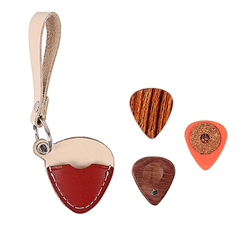 3 sztuk zestaw Handmade drewniany uchwyt na gitarę brelok i wybiera wiosła dla gitarzysta miłośnicy muzyki tanie i dobre opinie CN (pochodzenie)