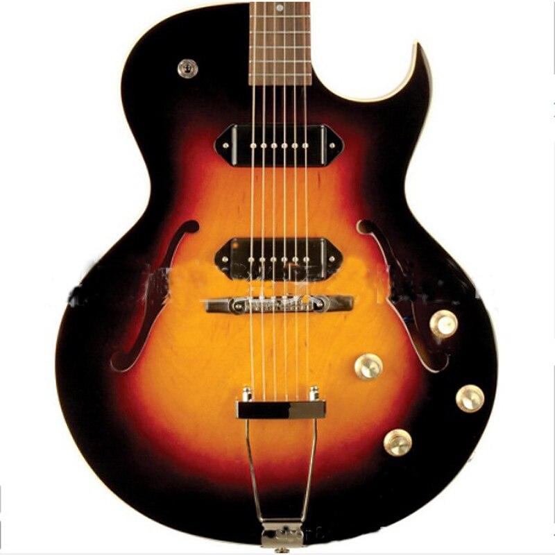 HOT 41 inch Left Electric Guitar Concert Jazz 6 string Guitar Rosewood Fingerboard Semi-Hollow Body Guitar AGT195