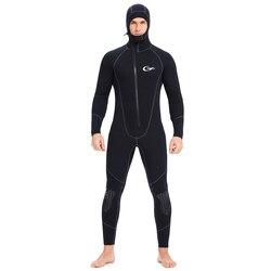 Гидрокостюм YONSUB для подводного плавания, 5 мм/3 мм, мужской костюм из неопрена для подводной охоты, серфинга на молнии спереди, подводной охот...