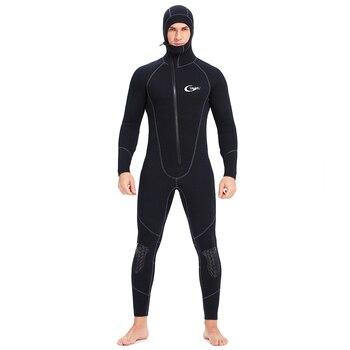 YONSUB Wetsuit 5mm / 3mm 1.5mm 7mm Scuba Diving Suit Men Neoprene Underwater hunting Surfing Front Zipper Spearfishing