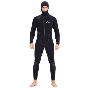 Image 1 - YONSUB Wetsuit 5mm / 3mm / 1.5mm / 7mm tüplü dalgıç kıyafeti erkekler neopren sualtı avcılık sörf ön fermuar Spearfishing takım elbise