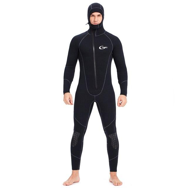 YONSUB Wetsuit 5mm / 3mm / 1.5mm / 7mm tüplü dalgıç kıyafeti erkekler neopren sualtı avcılık sörf ön fermuar Spearfishing takım elbise