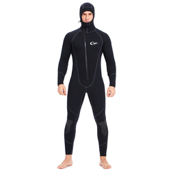YONSUB Wetsuit 5mm / 3mm Scuba Diving Suit Men Neoprene Underwater hunting Surfing Front Zipper Spearfishing Snorkeling Suit