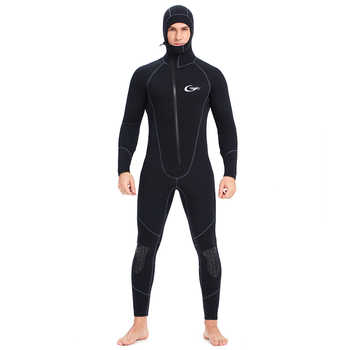 YONSUB Wetsuit 5mm / 3mm Scuba Diving Suit Men Neoprene Underwater hunting Surfing Front Zipper Spearfishing Snorkeling Suit - DISCOUNT ITEM  28% OFF All Category