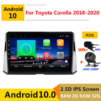10 inch Android 10 Car DVD Multimedia Player GPS For Toyota corolla 2018 2019 2020 audio auto radio stereo navigation image