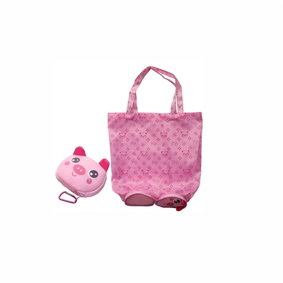 Cartoon Animal Foldable Shopping Tote Reusable Eco Folding Bag Panda Frog Pig Bear Waterproof Shopping Bags Storage Bags