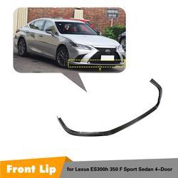Z włókna węglowego/FRP przedni zderzak samochodowy Splitter Lip Kit dyfuzor straż dla Lexus ES ES300 ES350 f-sport 2018 2019