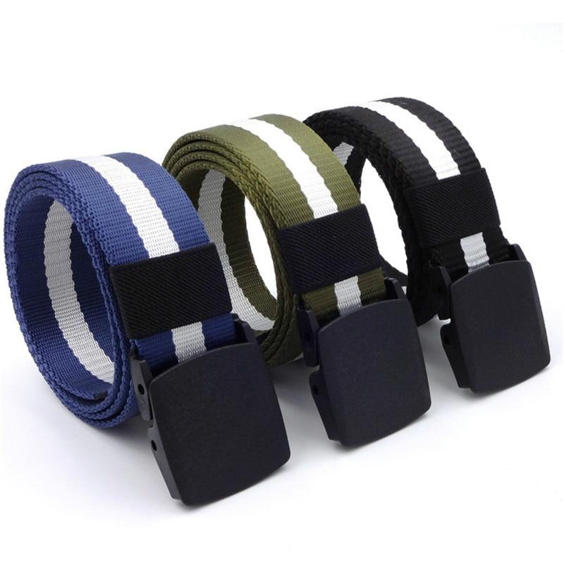 Men's Leather Belt Outdoor Tactical S Denim Wild Sports Nylon Wild Wild Casual Male Tide Ins Wild Tie Men Pantalon Homme Luxe