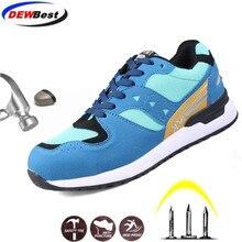 DEWBEST/Лидер продаж; Мужская защитная обувь со стальным носком; Строительная защитная обувь; Легкие противоударные рабочие кроссовки с 3D эффектом