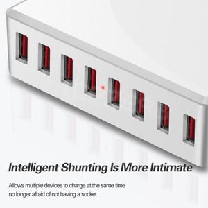 Image 5 - 40W 8Ports USB Charger Adapter HUB Charging Station Socket Phone Charger For iPhone 6 7 8 samsung xiaomi huawei US EU UK AU Plug