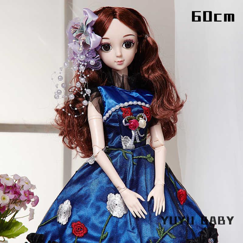 60 см кукла для девочек с шарнирным симулом, модная Кукла с микропроцессорным управлением, большой набор кукол принцессы для девочек, игрушки на день рождения, куклы, детский подарок для детей