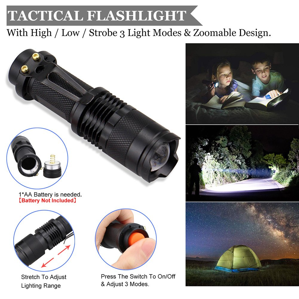 emergency survival kit with flashlight