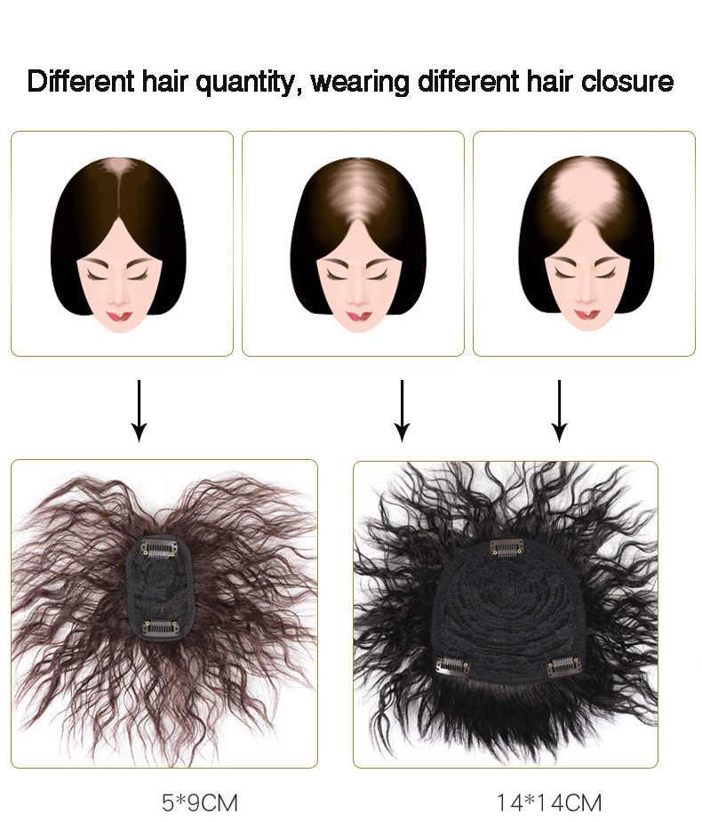 DIFEI Toupee синтетический натуральный Топ для волос, верхняя часть для волос, Женский кудрявый кукуруза, борода, замена волос, зажим для волос
