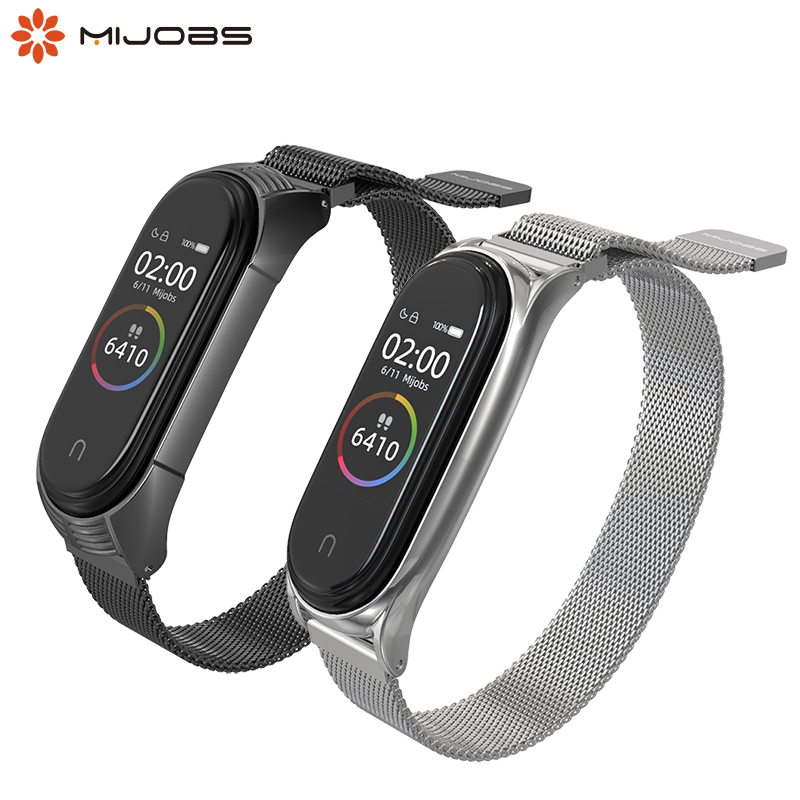 For Mi Band 4 Wrist Strap Magnetic Metal Screwless Stainless Steel For Xiaomi Mi Band 3 Bracelet Band 4 3 Wristbands Pulsera