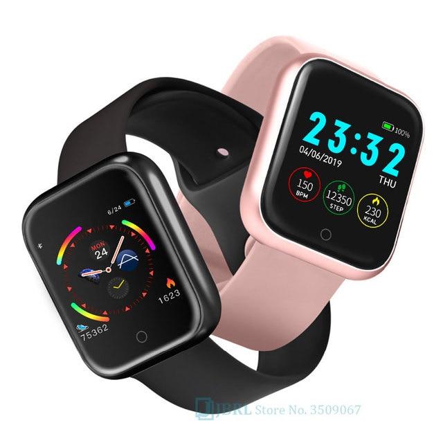 Relógio inteligente para android ios eletrônica relógio inteligente de fitness rastreador pulseira de silicone inteligente-relógio horas 2